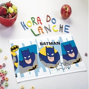 Kit 12 Toalhas De Lancheira 24Cm X 42Cm Batman Felpuda Único - Licenciada