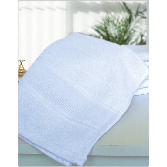 Kit 12 Toalhas Lavabo Ideal Para Artesanato 100 % Algodão Branco - Panosul