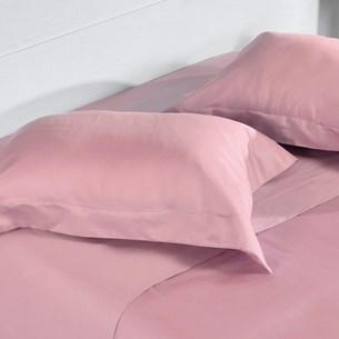 Kit 2 Fronhas 400 Fios 50Cm X 70Cm 100% Algodão Penteado Toque Extra Macio Light Pink - Tessi