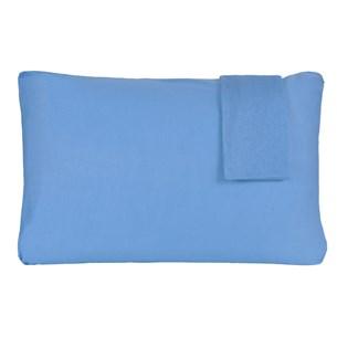 Kit 2 Fronhas Lisa 50Cm  X 70Cm Malha 100% Algodão Azul - Panosul