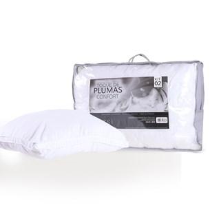 Kit 2 Travesseiros 50Cm X 70Cm Toque De Plumas Confort  Sortido - Tessi