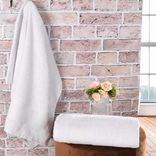 Kit 24 Toalha Banho Ótima Opção Para Pousada Branco - Panosul