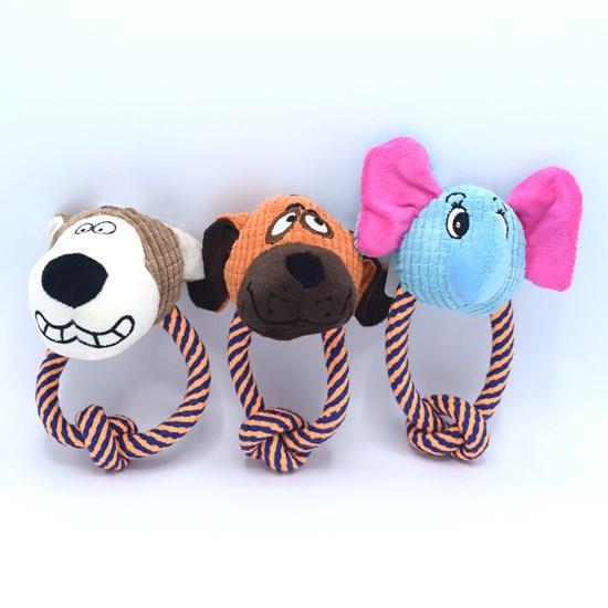 Kit 4 Brinquedos Pet   Para Moder Com Apito Sortido - Meu Pet