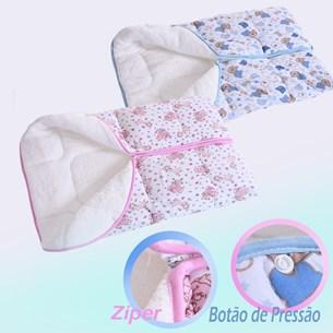 Kit 4 Porta Bebê Malha Plush 65Cm X 40Cm Com Zíper Sortido - Bene Casa