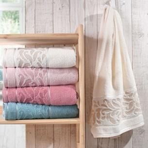 Kit 4 Toalha De Banho Elegance Perola - Bene Casa