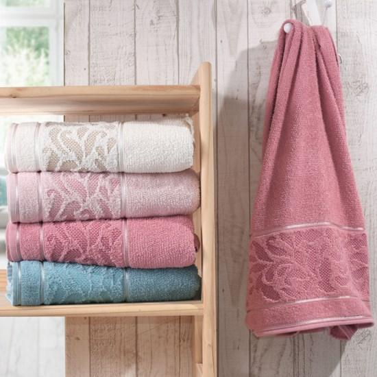Kit 4 Toalha De Rosto Elegance Blush - Bene Casa