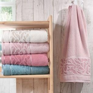 Kit 4 Toalha De Rosto Elegance Rosa Cristal - Bene Casa