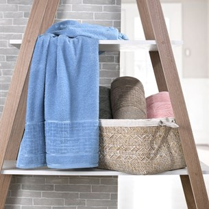 Kit 4 Toalhas De Banho Luna 100% Algodão Azul Provence - Bene Casa