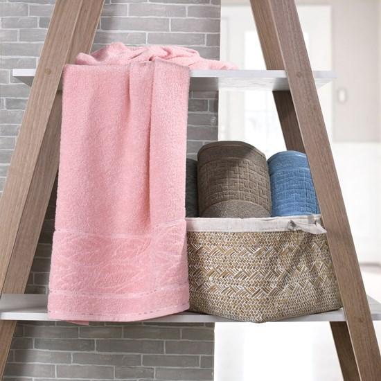 Kit 4 Toalhas De Banho Luna 100% Algodão Rosa Quartzo - Bene Casa