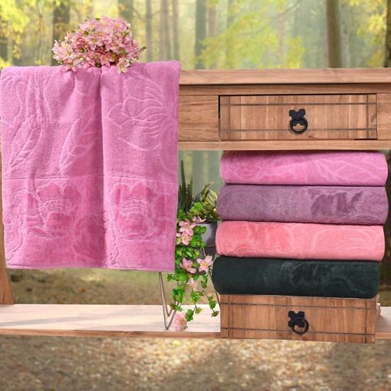 Kit 4 Toalhas De Banho Marselha 100% Algodão Rosa Classico - Bene Casa