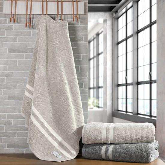 Kit 4 Toalhas De Banho Oásis 100 % Algodão Fio Retorcido Stone - Tessi