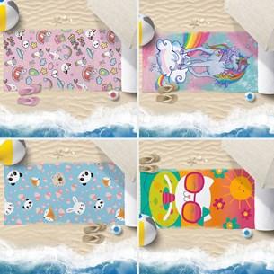 Kit 4 Toalhas De Praia 60Cm X 1,10M Infantil Anti Areia  Meninas - Bene Casa