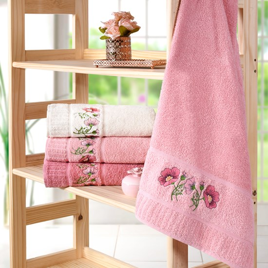 Kit 4 Toalhas De Rosto Encanto Rosa Flamingo - Bene Casa