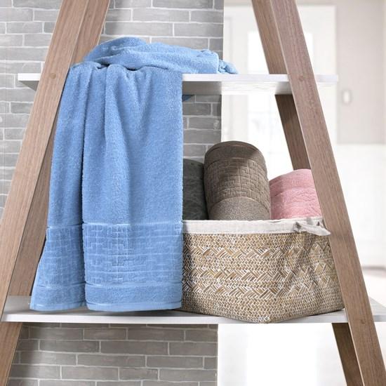Kit 4 Toalhas De Rosto Luna 100% Algodão Azul Provence - Bene Casa