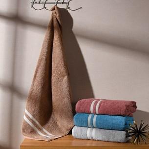 Kit 4 Toalhas De Rosto Premium Touch Fio Retorcido Extra Macia Oasis Marrom Shitake - Tessi