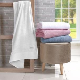 Kit 4 Toalhas Rosto Glamour 100% Algodão 450G/M² Fio Retorcido Branco - Tessi