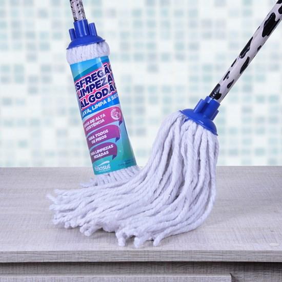 Kit 6 Esfregão De Limpeza Algodão Branco - Panosul