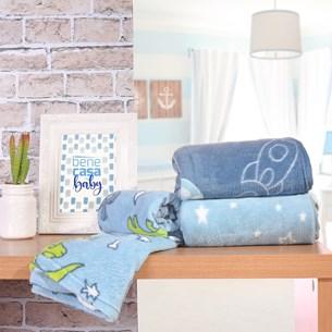Kit 6 Manta Bebê Para Revenda 70Cm X 1,00M Toque Flannel 250G/M² Meninos - Bene Casa
