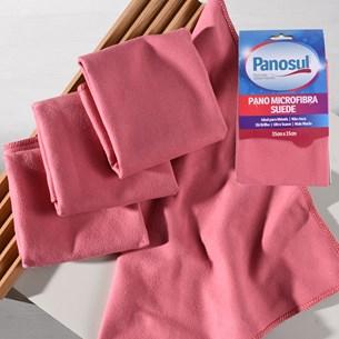 Kit 6 Panos Microfibra Suede 35Cm X 35Cm Ultra Suave Não Risca Sortido - Panosul