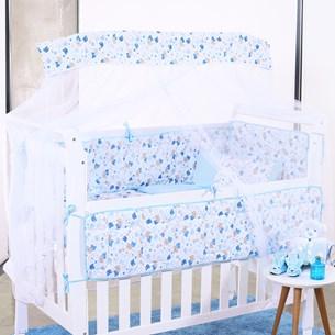Kit Berço Baby Malha 100% Algodão Fio Penteado 8 Peças Ursinho - Bene Casa