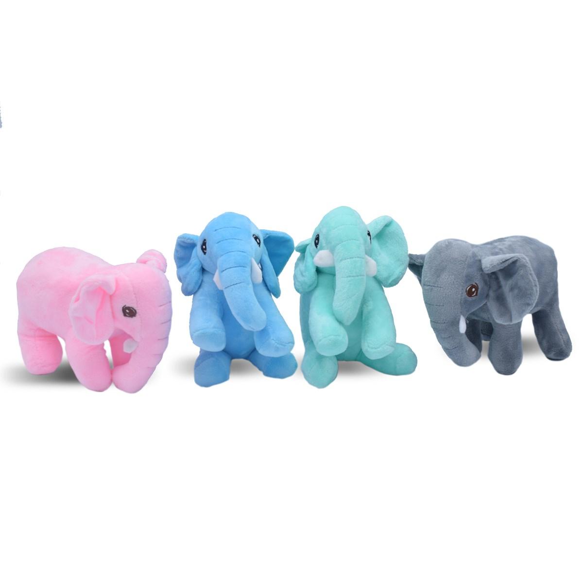Kit Bichinho De Pelucia   Super Diverdido E Macio Elefante - Meu Pet