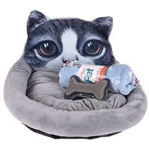 Kit Cama Pet + Manta +   Brinquedo Ossinho . - Meu Pet