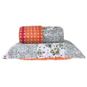 Kit Cobre Leito Casal Com Porta Travesseiro 3 Peças Rolinho  Turquesa - Bene Casa