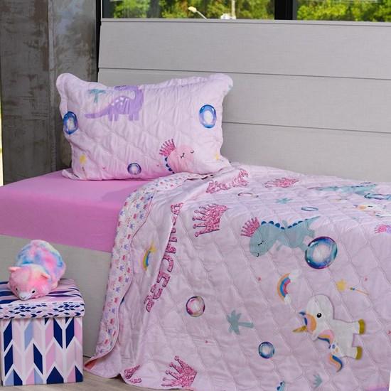 Kit Cobre Leito Casal + Porta Travesseiro Infantil Sonho De Princesa - Bene Casa