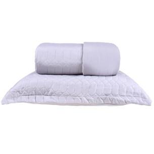 Kit Cobre Leito Casal + Portas Travesseiro Ultra Lisse Ágata Cinza - Bene Casa