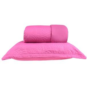 Kit Cobre Leito Casal + Portas Travesseiro Ultra Lisse Ágata Rosa - Bene Casa
