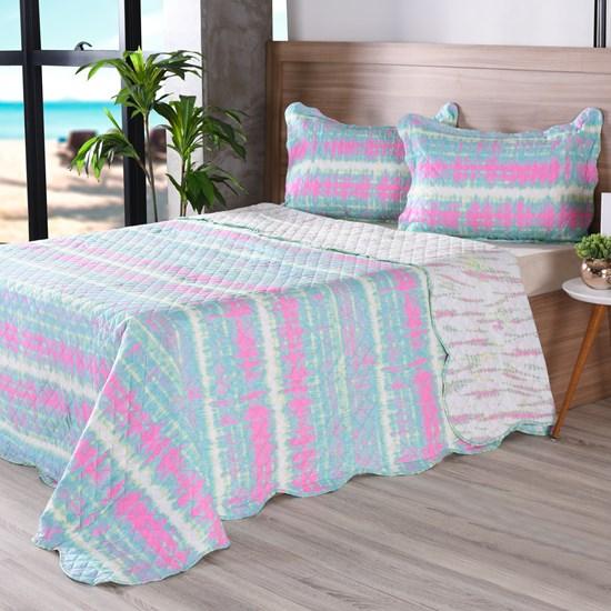 Kit Cobre Leito Infantil Queen + Porta Travesseiro Colors - Bene Casa