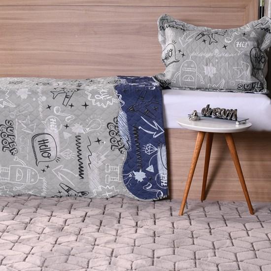 Kit Cobre Leito Infantil Solteiro Com Porta Travesseiro 2 Peças Boys - Bene Casa