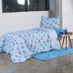 Kit Cobre Leito Infantil Solteiro Com Porta Travesseiro 2 Peças Corrida - Bene Casa
