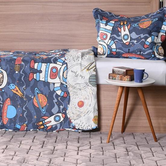 Kit Cobre Leito Infantil Solteiro Com Porta Travesseiro 2 Peças Espaço - Bene Casa
