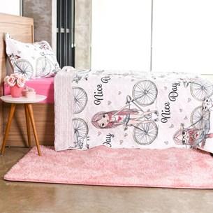 Kit Cobre Leito Infantil Solteiro Com Porta Travesseiro 2 Peças Nice Day - Bene Casa