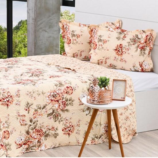 Kit Cobre Leito King + Porta Travesseiros Rolinho Magnolia - Bene Casa
