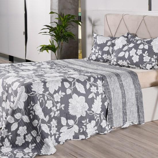Kit Cobre Leito + Porta Travesseiros Queen Ultra Lisse Rolinho Malbec Classe - Bene Casa