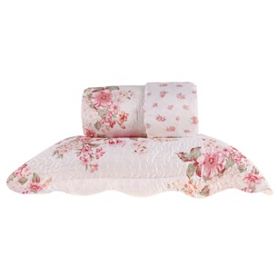 Kit Cobre-Leito Queen C/ Porta Travesseiro Encanto  Delicate Patchwork - Bene Casa
