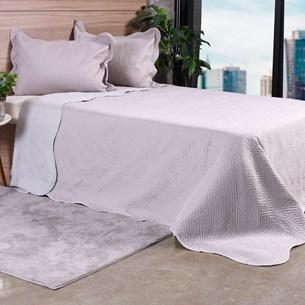 Kit Cobre Leito Queen Com Porta Travesseiro Dupla Face Nanquim - Bene Casa