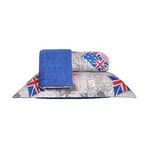 Kit Cobre Leito Queen Dupla Face Com Porta Travesseiro Ultra Lisse Britanica - Bene Casa