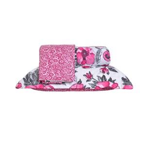 Kit Cobre Leito Queen Dupla Face Com Porta Travesseiro Ultra Lisse Poppy - Bene Casa