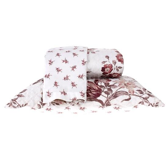 Kit Cobre Leito Queen Dupla Face Com Porta Travesseiro Ultra Lisse Soraia - Bene Casa