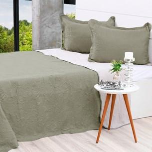 Kit Cobre Leito Queen + Porta Travesseiros Rolinho Grey - Bene Casa