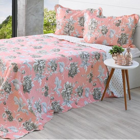 Kit Cobre Leito Queen + Porta Travesseiros Rolinho Rouge - Bene Casa