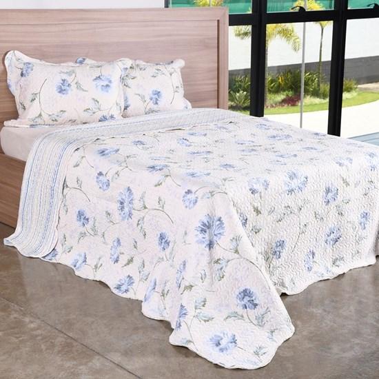 Kit Cobre-Leito Solteiro C/ Porta Travesseiro Encanto  Floral - Bene Casa
