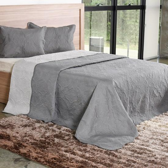 Kit Cobre Leito Solteiro Com Porta Travesseiro Concret - Bene Casa