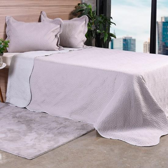 Kit Cobre Leito Solteiro Com Porta Travesseiro Dupla Face Nanquim - Bene Casa