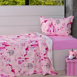 Kit Cobre Leito Solteiro + Porta Travesseiro Infantil Castelos - Bene Casa