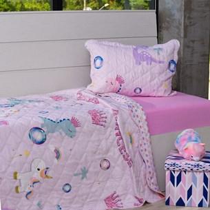 Kit Cobre Leito Solteiro + Porta Travesseiro + Lençol + Fronha 5Pçs Sonho De Princesa - Bene Casa