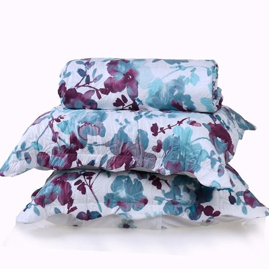 Kit Cobre Leito Ultra Lisse Casal + Porta Travesseiro Floratta Special - Bene Casa